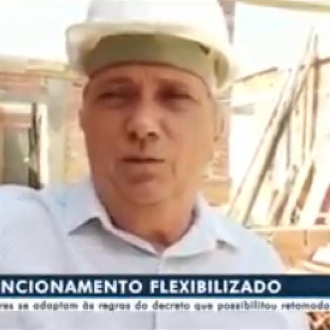 PRESIDENTE DA ACOMASUL FALA À TV MORENA SOBRE O RETORNO DAS ATIVIDADES NA CONSTRUÇÃO CIVIL