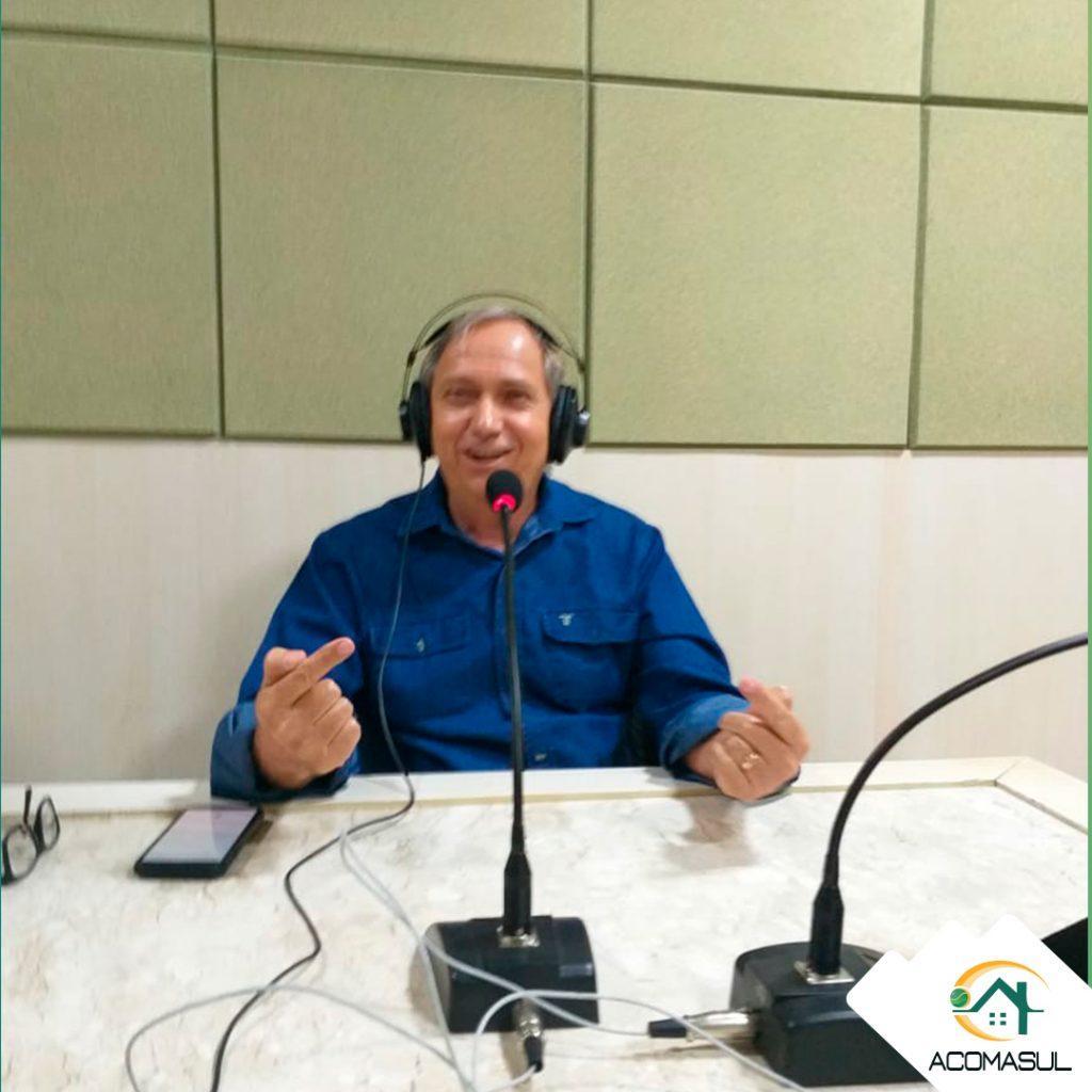 Ouça a entrevista do presidente da Acomasul, Adão Castilho, na rádio Cidade 97FM