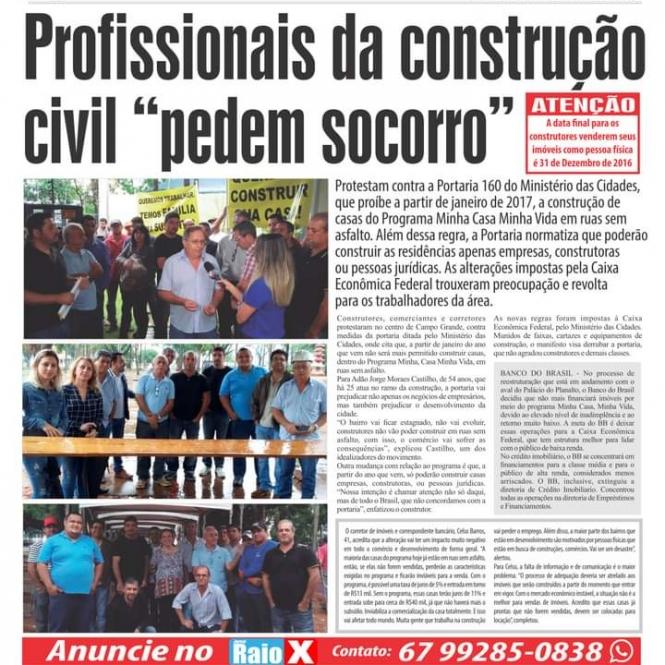 A ACOMASUL ESTÁ NA LUTA HÁ QUATRO ANOS EM DEFESA DE VOCÊ CONSTRUTOR